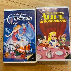 Disney VHS Alice in Wonderland, Cinderella